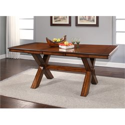 Abbyson Living Leonard Acacai Dining Table in Espresso