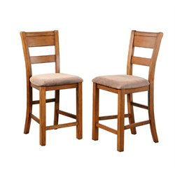 Abbyson Living Hana Counter Stool in Brown (Set of 2)