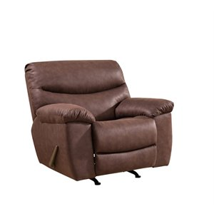 Abbyson Living Landon Recliner with USB Outlets in Brown