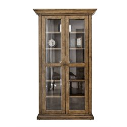 Abbyson Living Westley Glass Bookcase in Brown