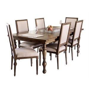 Abbyson Living Westley Dining Set in Brown-A