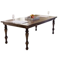 Abbyson Living Westley Dining Table in Weathered Oak