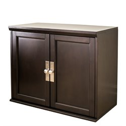 Abbyson Living Nadia Storage Cabinet Top in Espresso