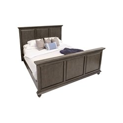 Abbyson Living Breckenridge Panel Bed in City Gray-F