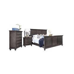 Abbyson Living Breckenridge 4 Piece Panel Bedroom Set-H