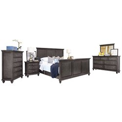 Abbyson Living Breckenridge 6 Piece Panel Bedroom Set-J