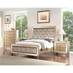Abbyson Living Francesca 4 Piece Panel Bedroom Set-M