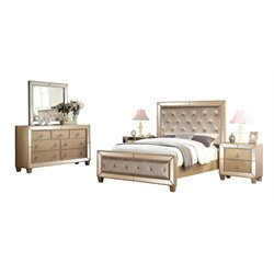 Abbyson Living Francesca 5 Piece Panel Bedroom Set-N