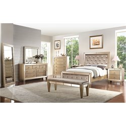 Abbyson Living Francesca 8 Piece Panel Bedroom Set-R