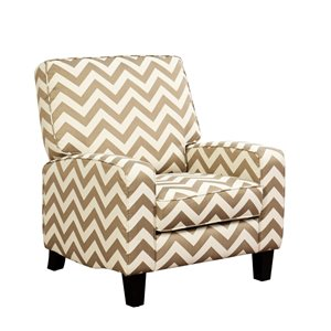 Abbyson Living Darla Push Back Recliner in Gold