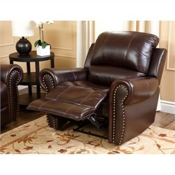 Abbyson Living Hogan Top-Grain Leather Recliner