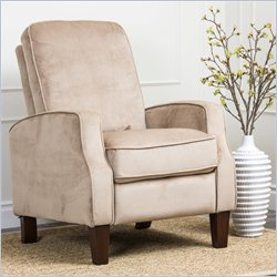 Abbyson Living Snapper Microsuede Recliner in Beige