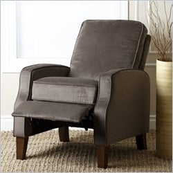 Abbyson Living Snapper Microsuede Recliner in Dark Brown