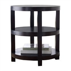 Abbyson Living Maytime Round Wood Table in Espresso