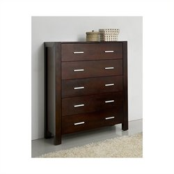 Abbyson Living West Park Solid Oak Dresser in Caramel Mocha Finish