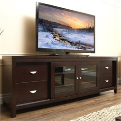 Abbyson Living Deagen Oak TV Console in Dark Espresso Finish