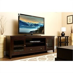 Abbyson Living Harper-Lee Oak TV Console in Dark Espresso