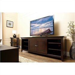 Abbyson Living Cassie Oak TV Console in Espresso Finish