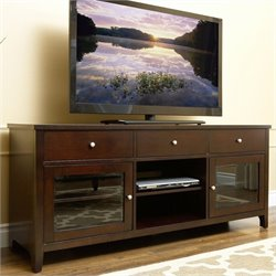 Abbyson Living Aussie Oak TV Console in Espresso Finish