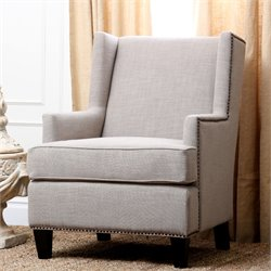 Abbyson Living Morrena Linen Armchair in Natural