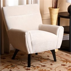 Abbyson Living Marquis Microfiber Arm Chair in Ivory