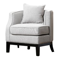 Abbyson Living Eve Linen Corner Chair in Beige