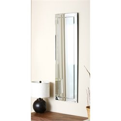 Abbyson Living Beama Glass and Wood Mirror in Silver