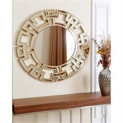 Abbyson Living Zeba Glass and Wood Mirror in Gold