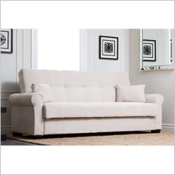 Abbyson Living Brighton Convertible Sofa in White
