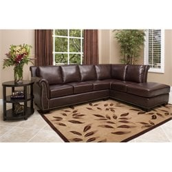 Abbyson Living Winston Top Grain Leather Sectional (without the Ottoman)