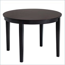 Abbyson Living Bahama Wood Round Dining Table in Cappuccino
