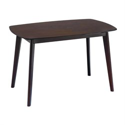 Abbyson Living Bermuda Wood Dining Table in Cappuccino