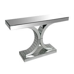 Abbyson Living Halton Mirror Sofa Table