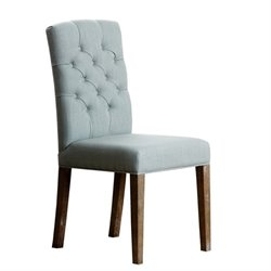 Abbyson Living Princeton Tufted Fabric Dining Chair in Blue