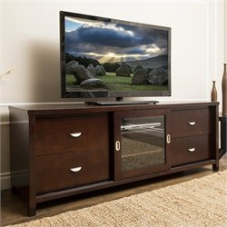 Abbyson Living Berks TV Console in Cappuccino