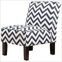 Abbyson Living Natalia Slipper Chair in White and Black