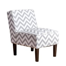 Abbyson Living Sasha Fabric Accent Chair in Gray