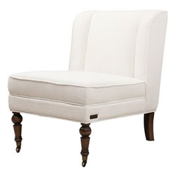 Abbyson Living Monica Pedersen Fabric Slipper Chair in Ivory