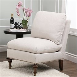 Abbyson Living Monica Pedersen Slipper Chair in Gray