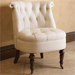 Abbyson Living Monica Pedersen Barrel Chair in Ivory