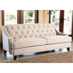 Abbyson Living Emily Tufted Sofa in Beige