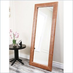 Abbyson Living Oliver Floor Mirror in Camel