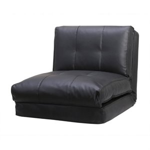 Abbyson Living Finley Single Sleeper Sofa in Black