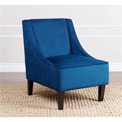 Abbyson Living Carlton Fabric Accent Chair in Blue