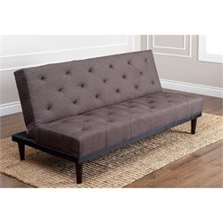 Abbyson Living Graham Fabric Convertible Sofa in Brown