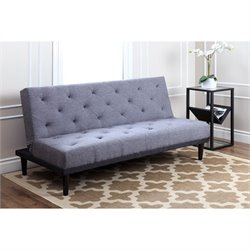 Abbyson Living Graham Fabric Convertible Sofa in Grey
