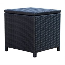 Abbyson Living Carlsbad Outdoor Wicker Storage Ottoman