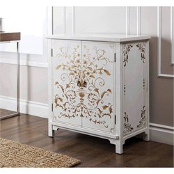 Abbyson Living Antique Parmita Hand Painted Accent Chest in White