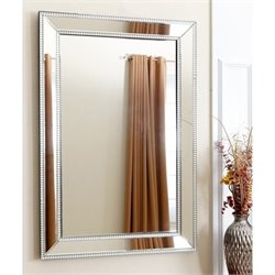 Abbyson Living Lauren Wall Mirror in Silver