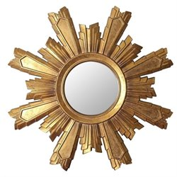 Abbyson Living Isabella Sunburst Wall Mirror in Gold